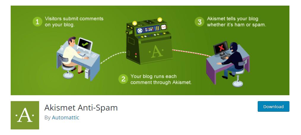 Akismet anti-spam - плагин от спама для WordPress