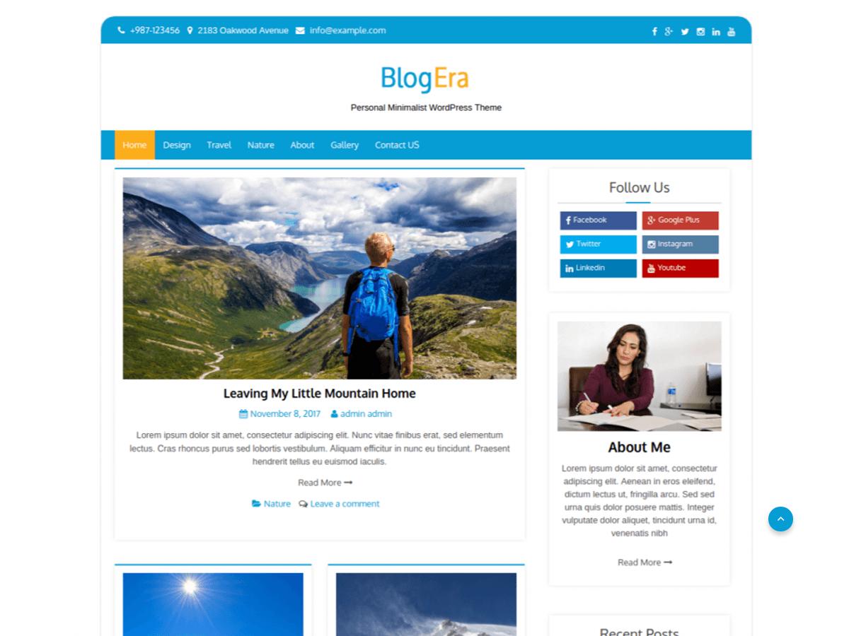 Blog Era - тема для блога на ВордПресс