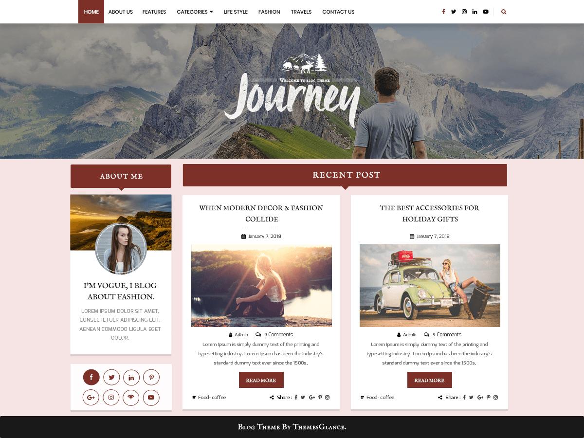 Blogger Hub - блоговый шаблон для WordPress