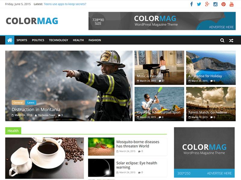 ColorMag - новостная тема в стиле Magazine