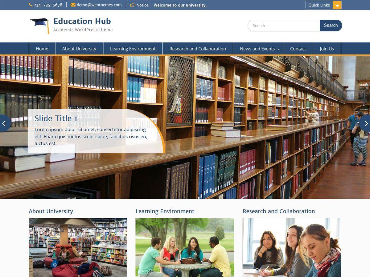 Education Hub - тематическая блоговая тема ВП