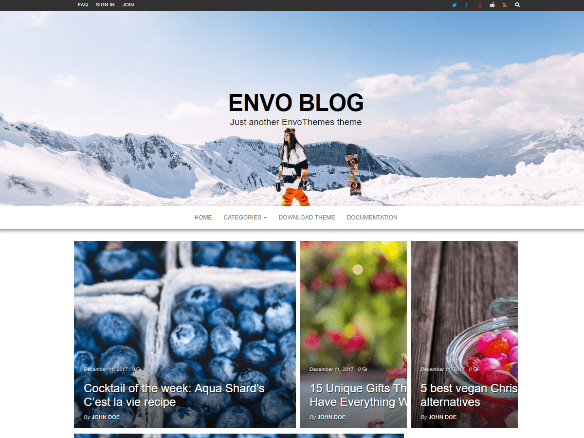 Envo Blog - блоговый дизайн для WP