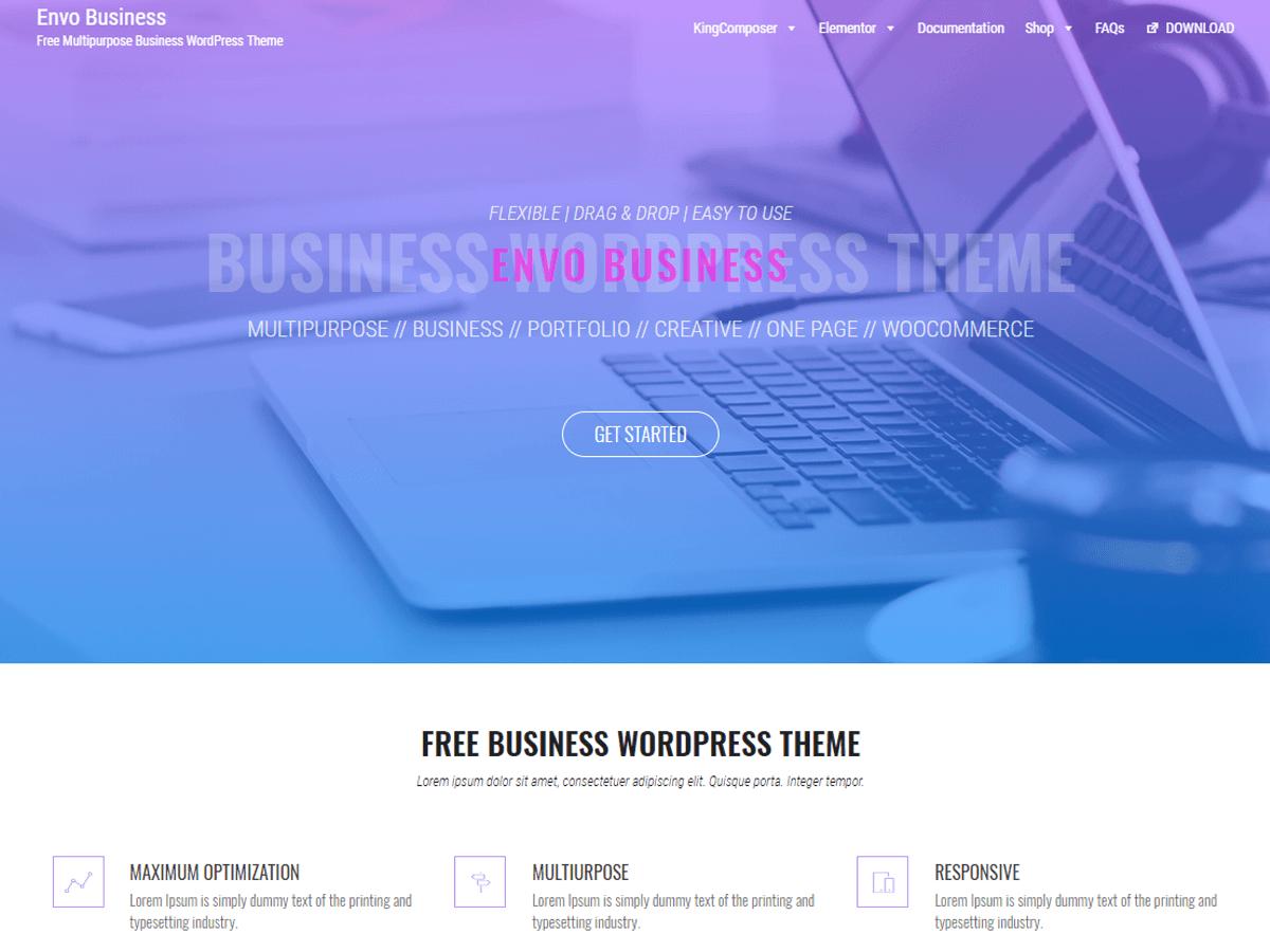 Envo Business - бизнес шаблон вордпресс