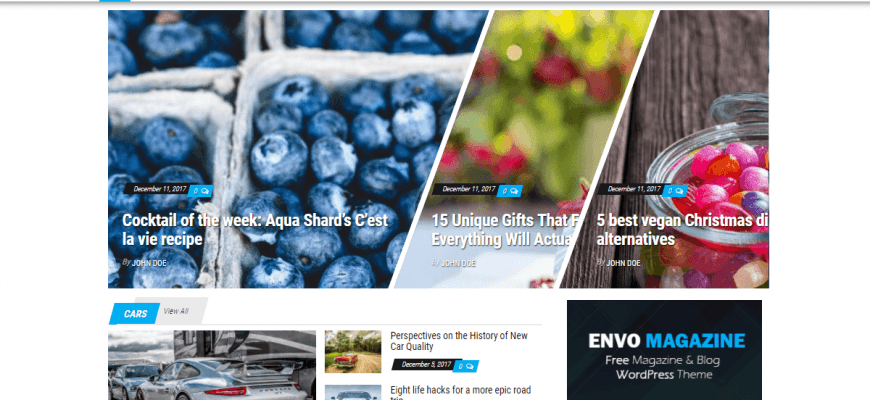 Envo Magazine - отличная элегантная тема оформления