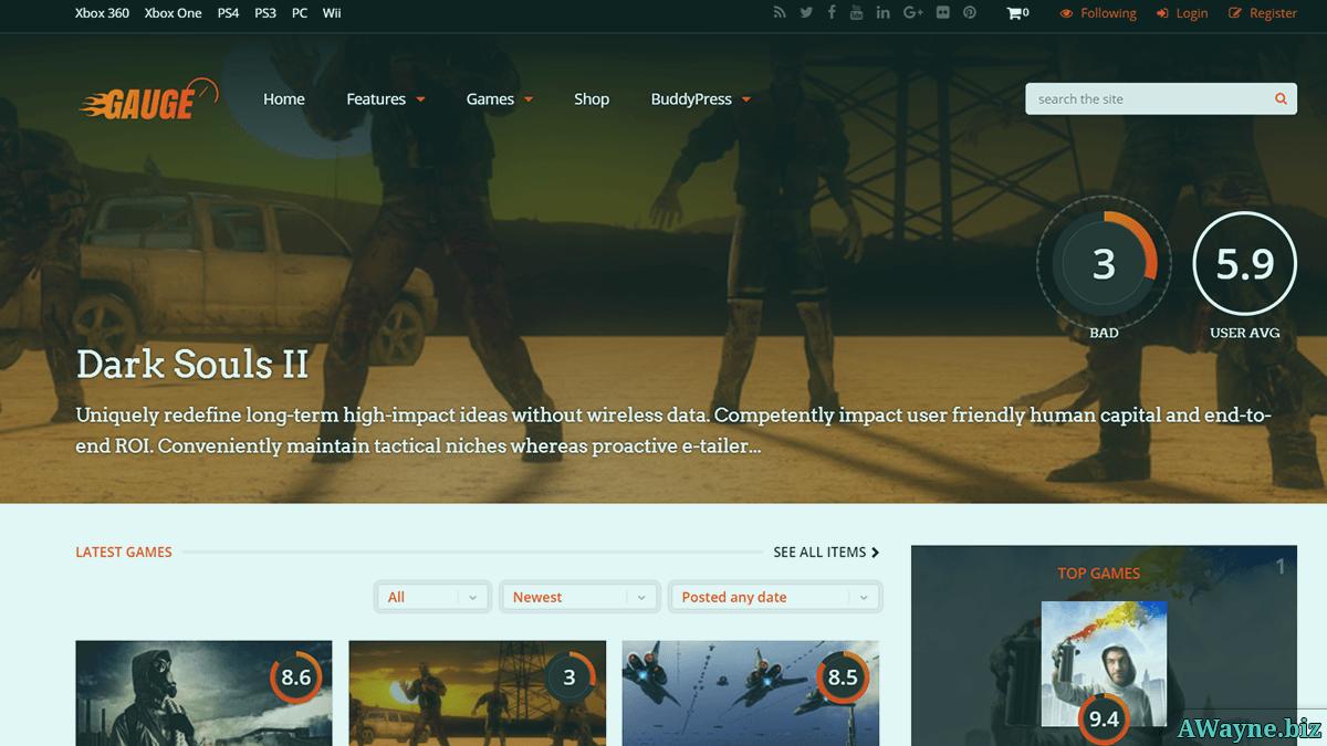 шаблон для игрового сайта вордпресс
