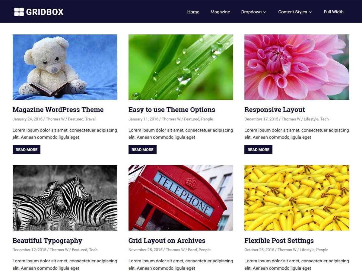 Gridbox - гридовый дизайн вордпресс