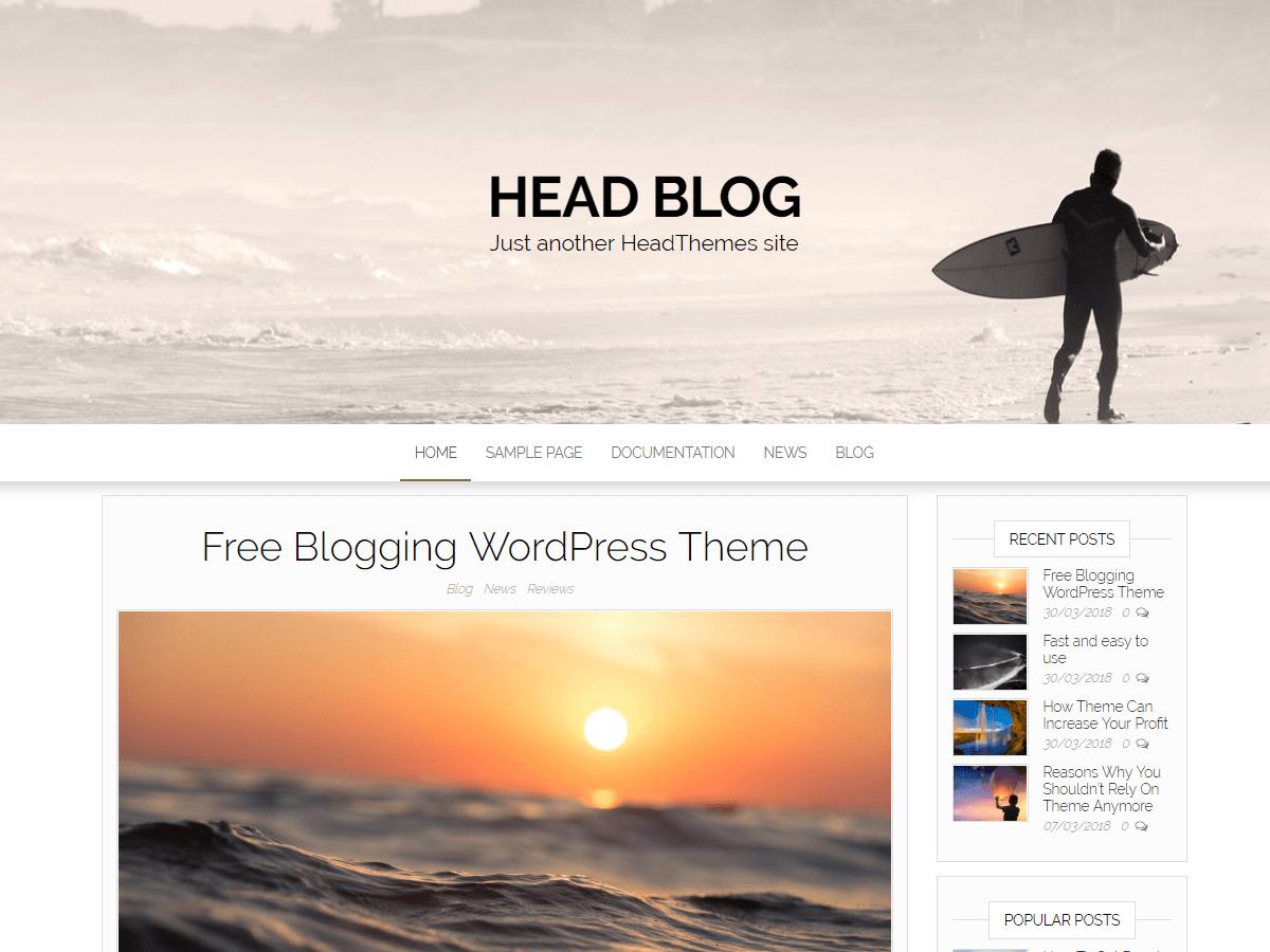 HeadBlog - блоговая тема оформления