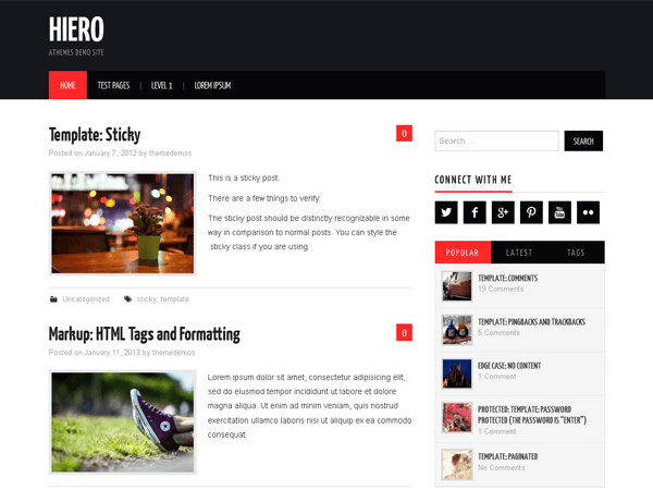Hiero - дизайн для блога на WP