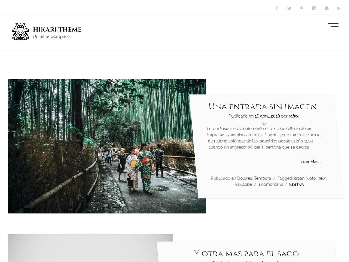 hikaru - стильный минималистичный дизайн