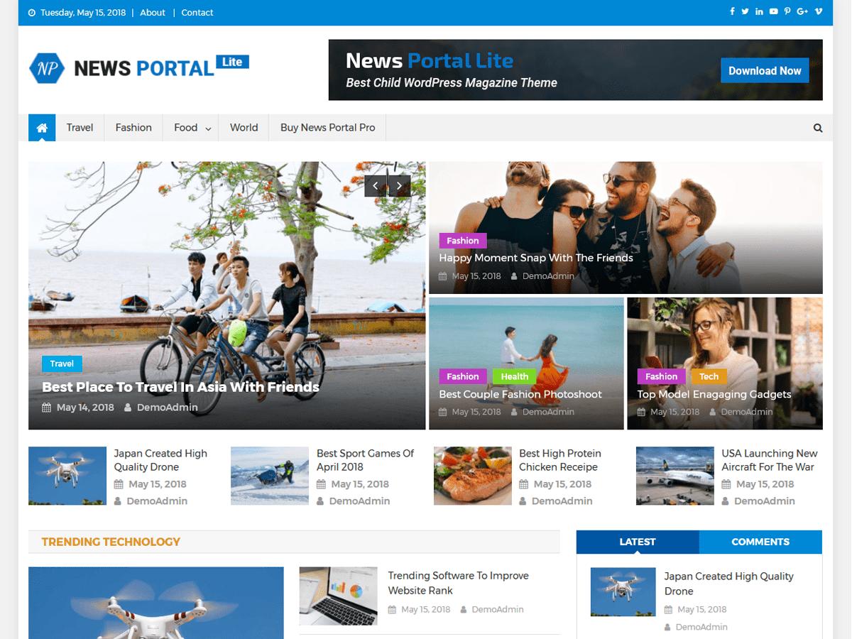 News Portal Lite - новостная тема wordpress