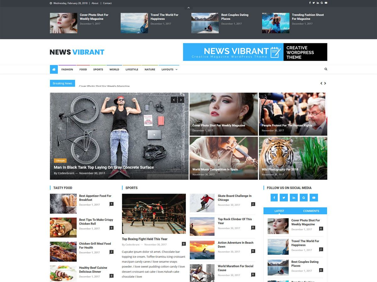 News Vibrant - новости на WordPress