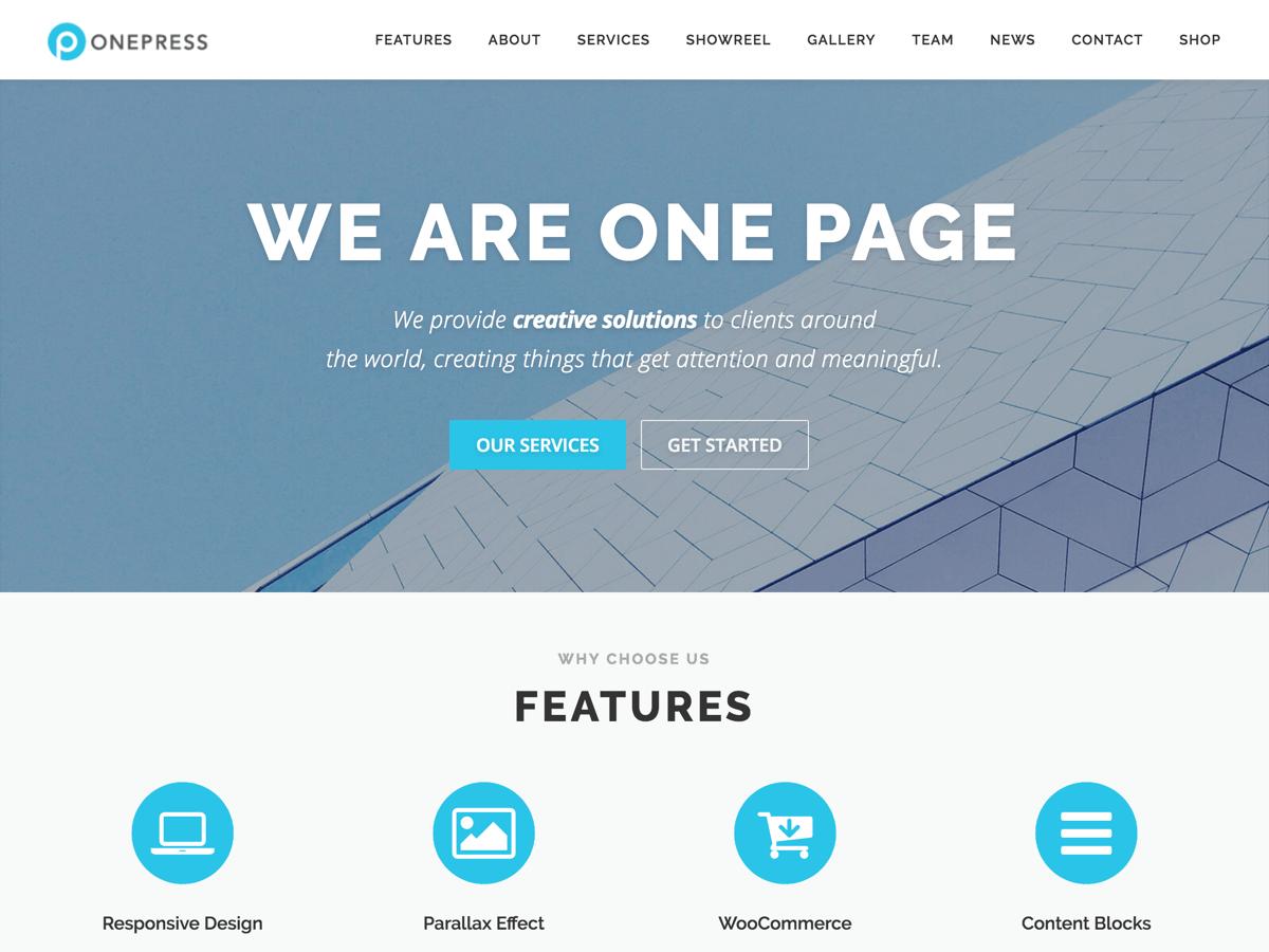 OnePress - гибкий шаблон вп