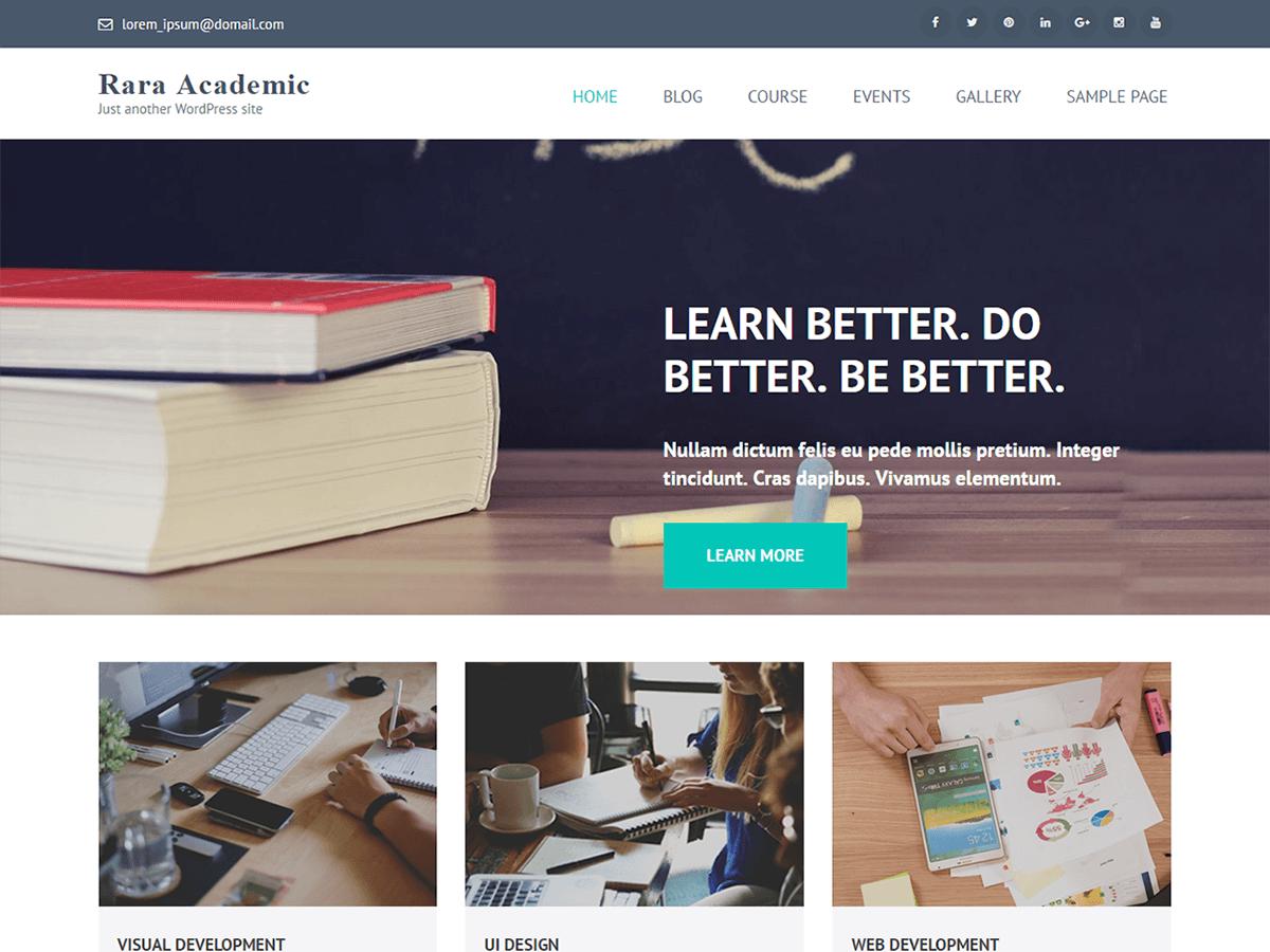 Rara Academic - образовательный дизайн для WordPress