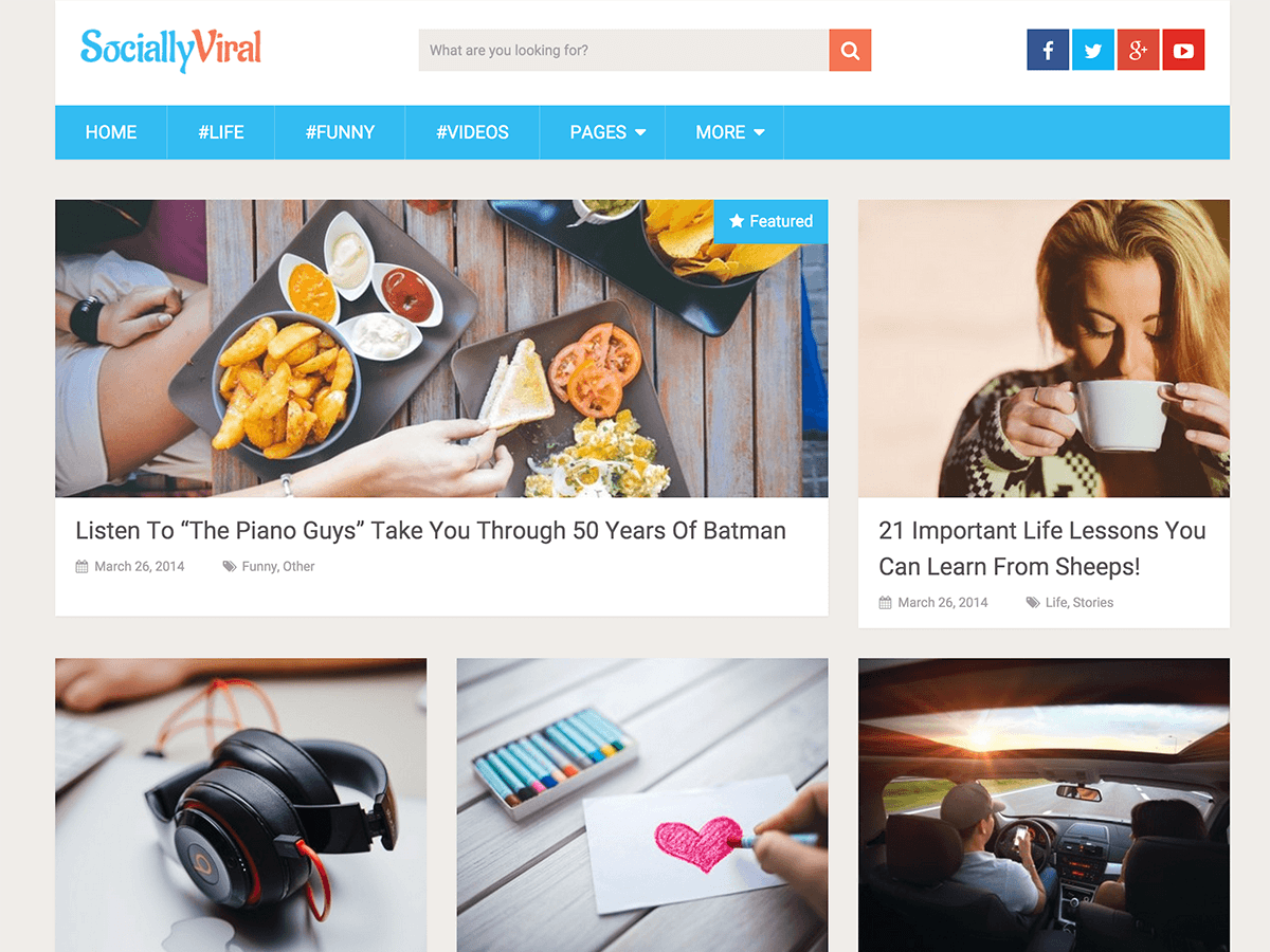 SociallyViral - бесплатная тема ВП от MyThemeShop