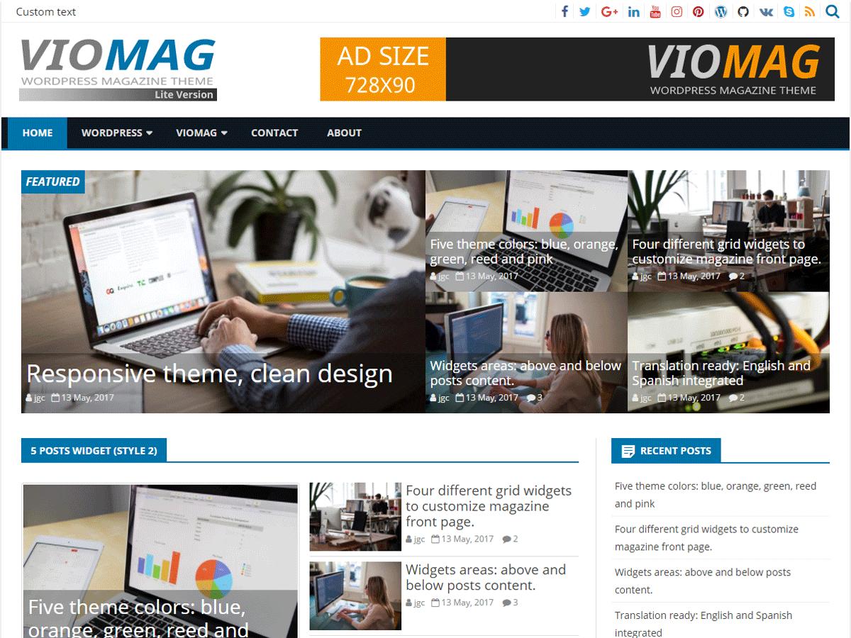 VioMag - новостной шаблон WordPress