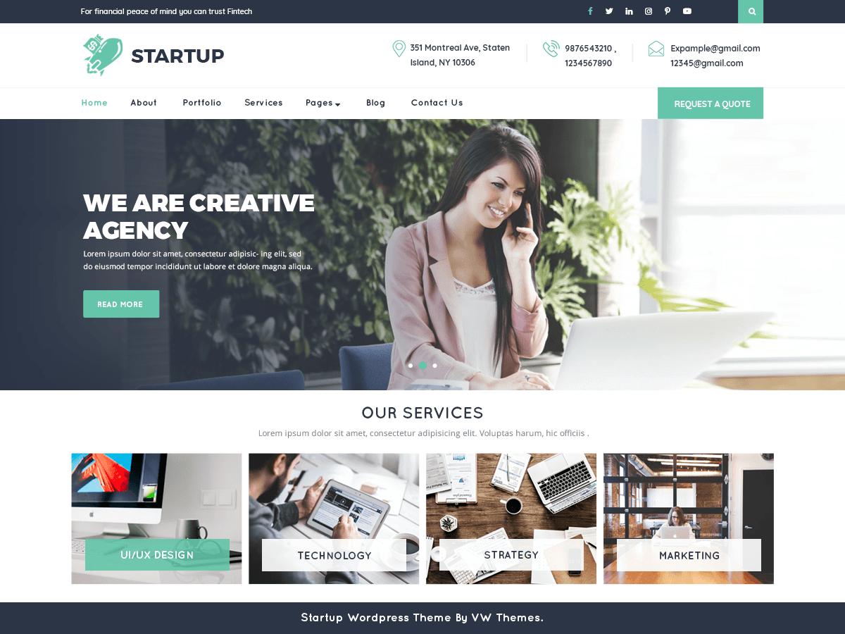 VW Startup - бизнес-тема вордпресс
