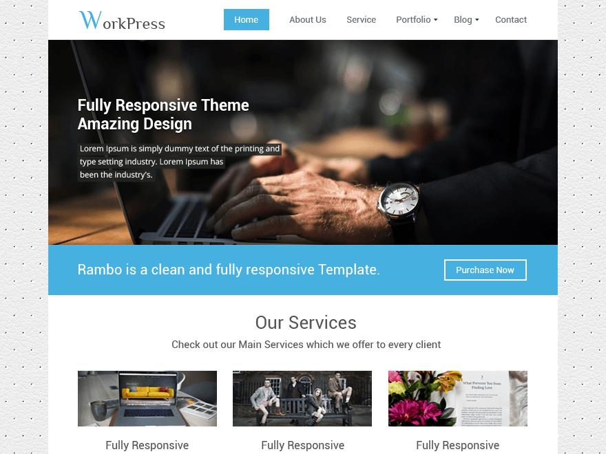 WorkPress - бесплатный дизайн под сайт