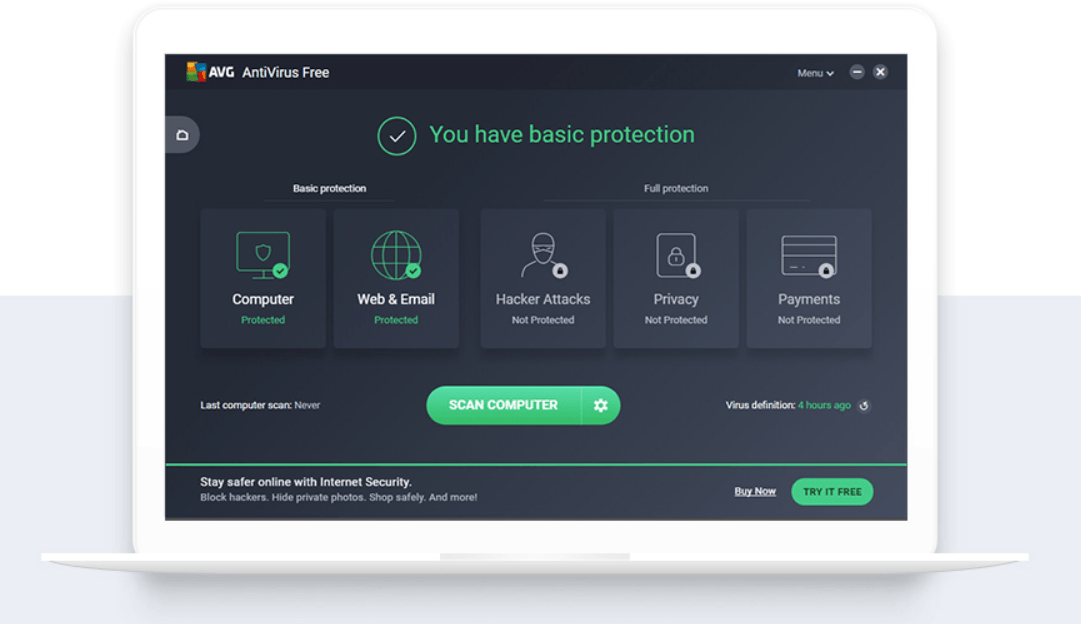 AVG Free Antivirus - отличное решение для дома