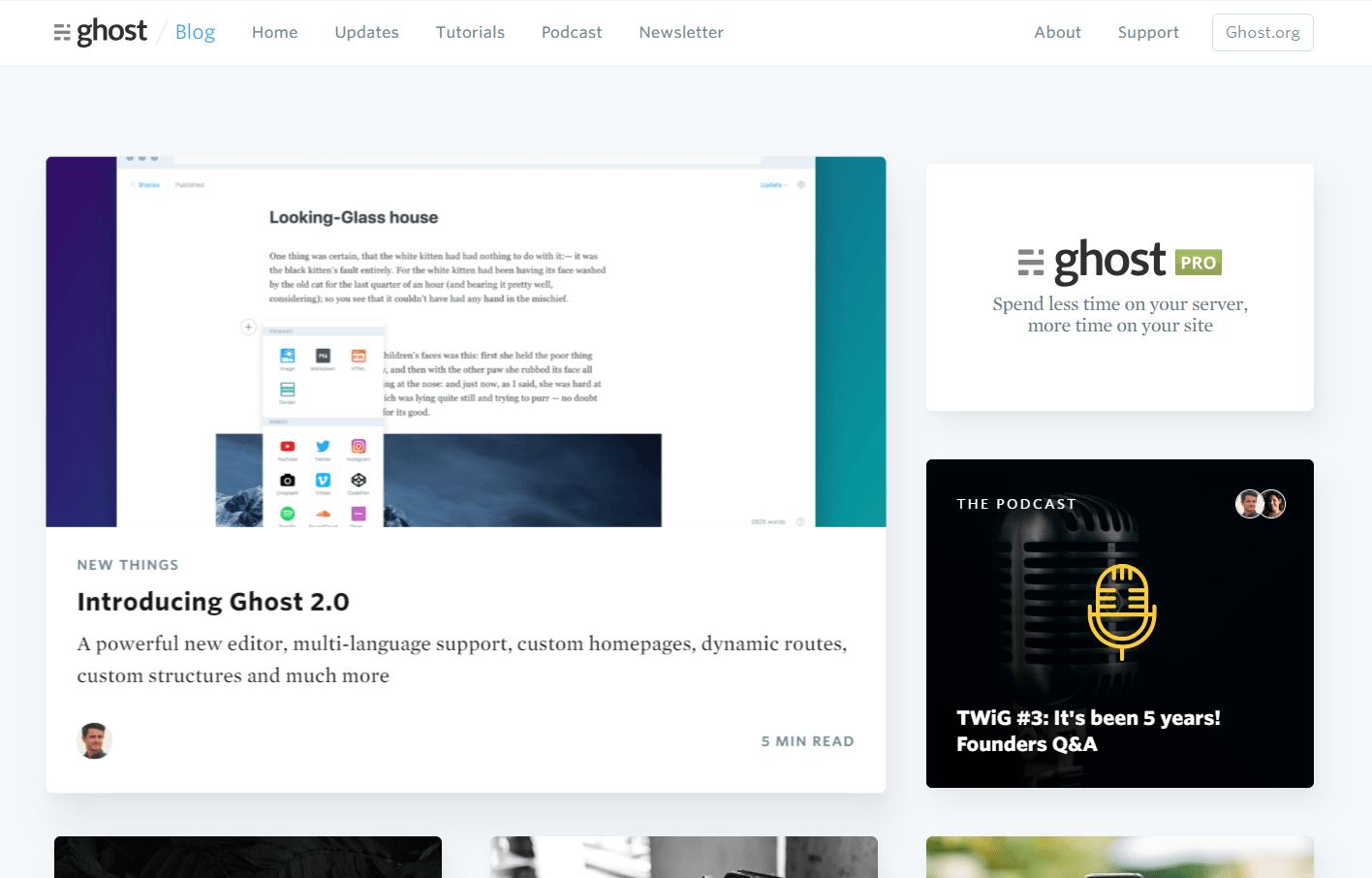 Ghost - профессиональная издательская платформа