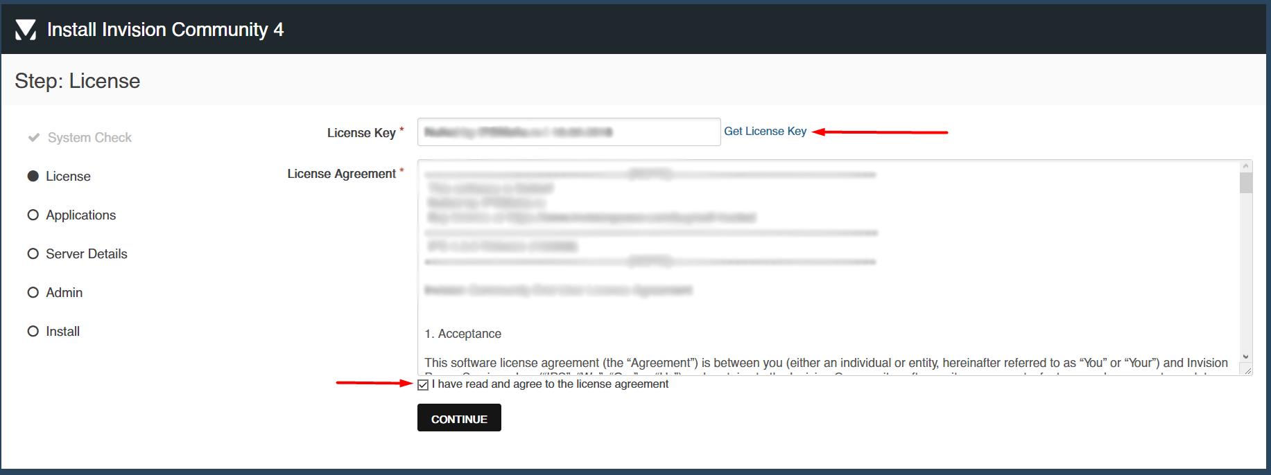 Ключ лицензии и пользовательского соглашение