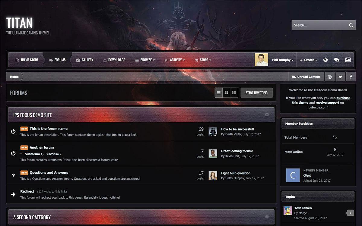 Titan - игровая тема для IPS