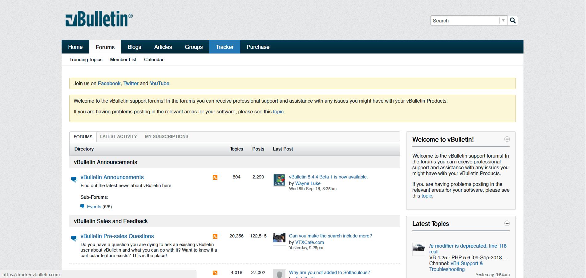 vBulletin - коммерческий форумный движок