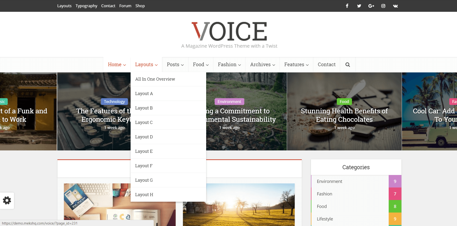 Voice - хорошая SEO тема ВордПресс