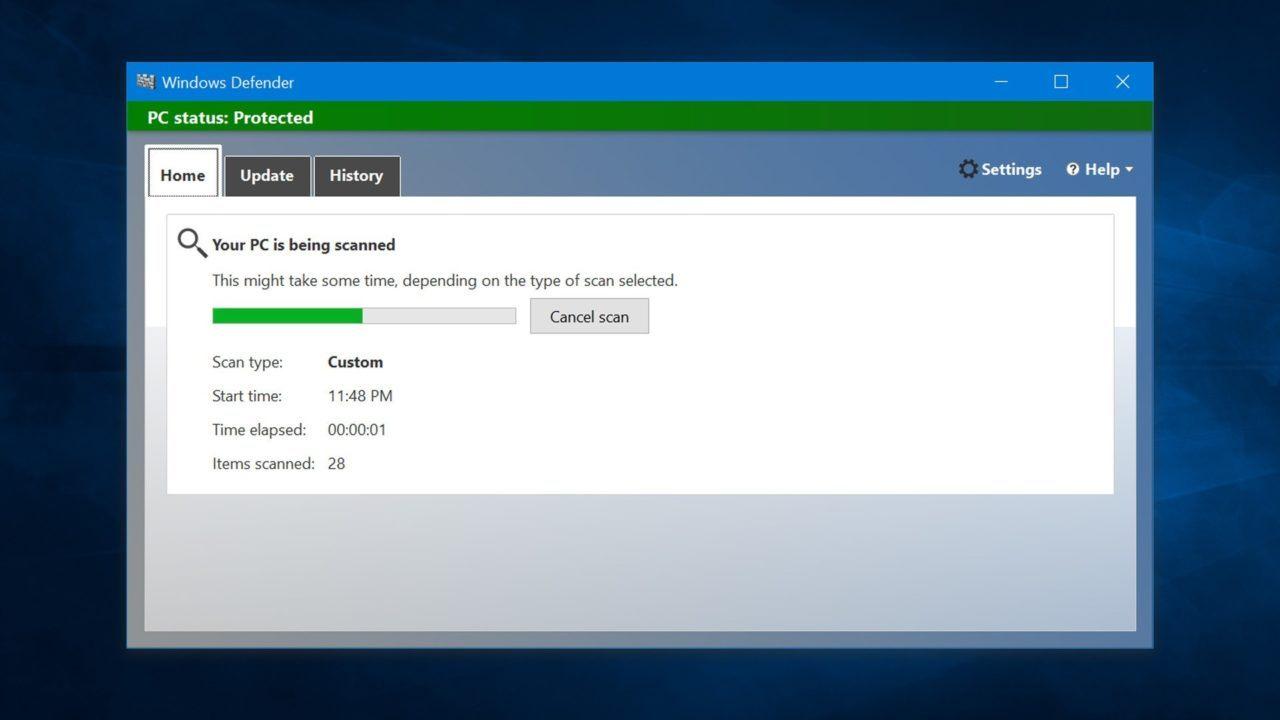 Защитник Windows - нативный антивирус в Windows 10