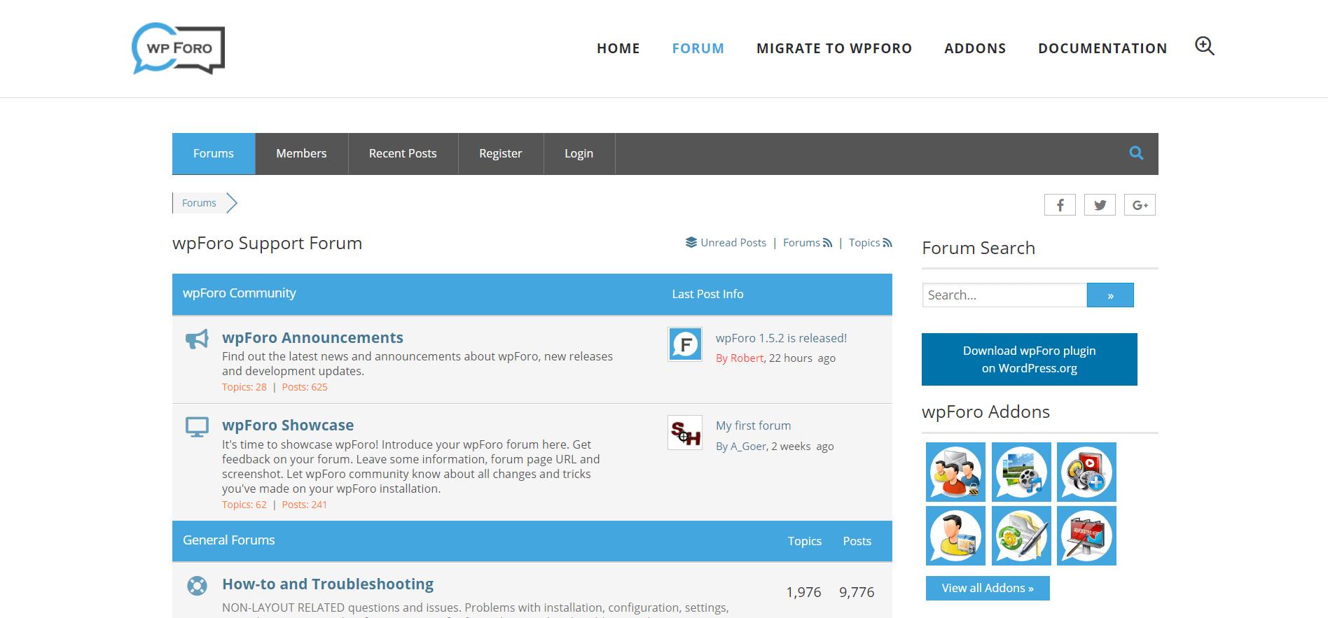 wpForo - плагин форума для WordPress