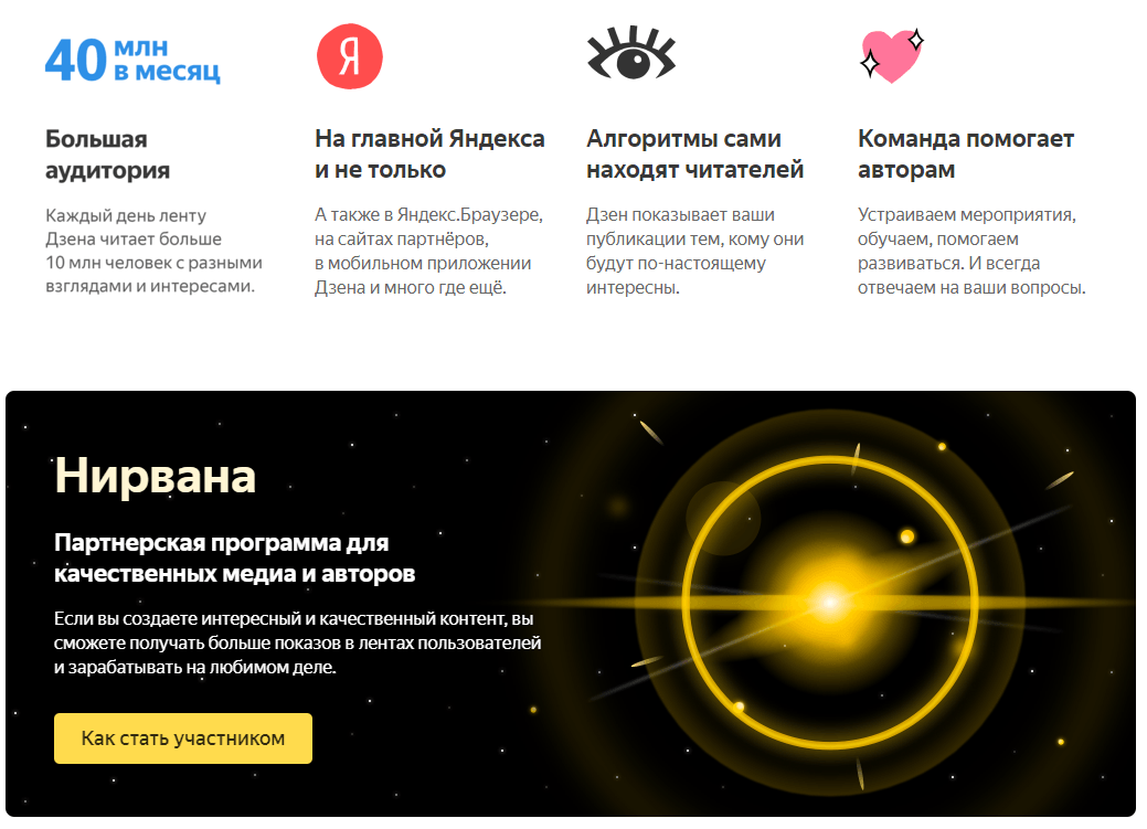 Яндекс.Дзен - рекомендательная платформа от Яндекса