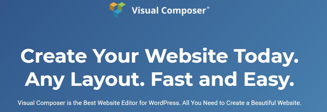 Visual Composer - бесплатный плагин для WordPress