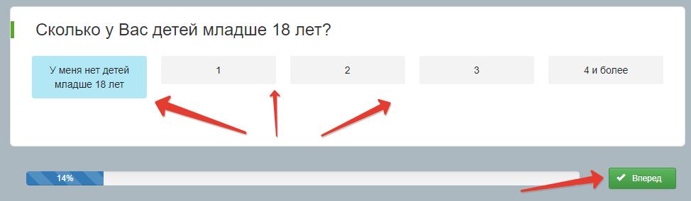 Основная анкета Анкетки.ру для заполнения профиля