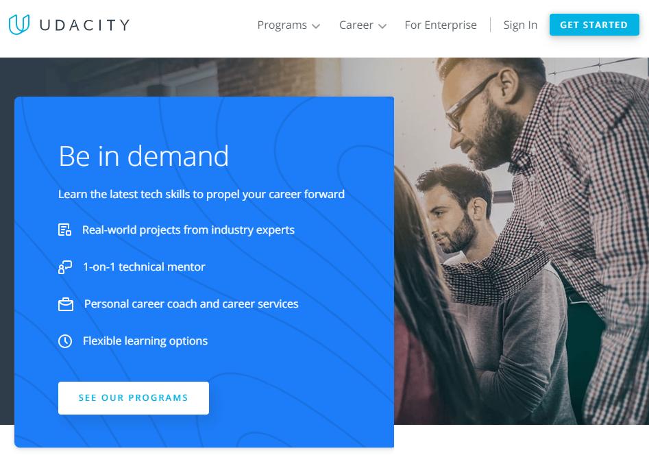 Udacity - англоязычный ресурс с курсами