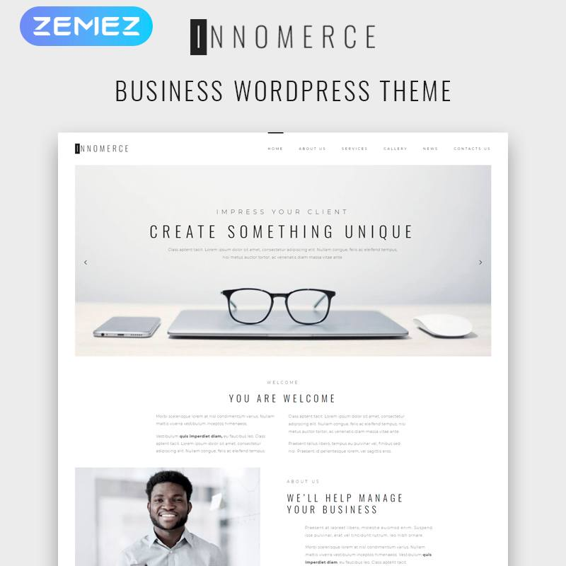 WordPress шаблон Innomerce - Business Multipurpose Minimal