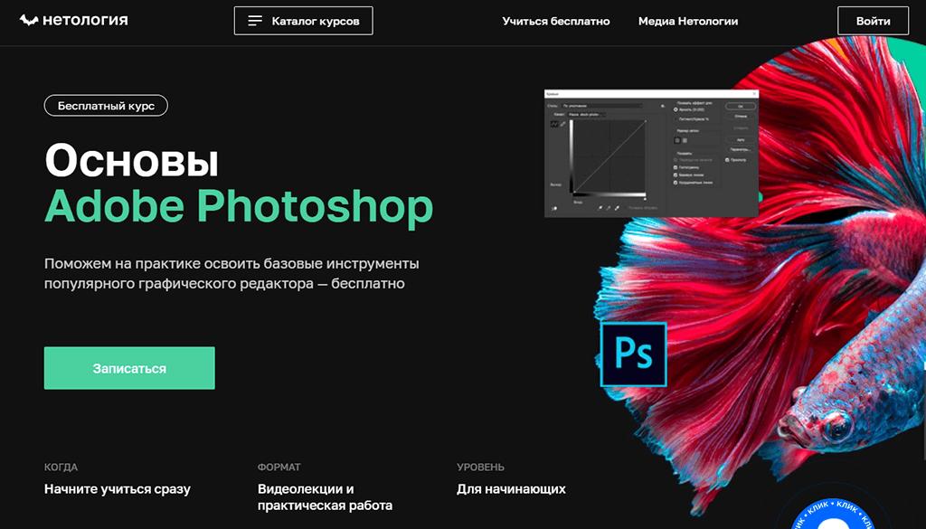 Основы Adobe Photoshop от Нетологии